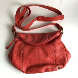 The Sak Crossbody Bag Pebbled Leather Salmon Pink